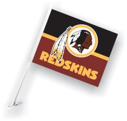 Washington Redskins NFL Team Logo Car Flag w/Wall Brackett