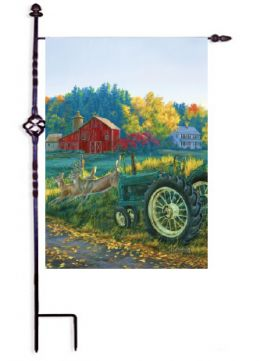 Yesteryear Farm Scene Seasonal Decorative Garden Flag