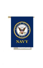 "United States Navy Decorative Garden or House Flag (Flag size: 28"" x 40"")"