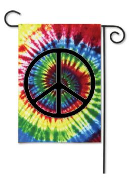 "Outdoor Decorative Garden or House Flag - Peace Sign (Flag size: 12.5"" x 18"")"