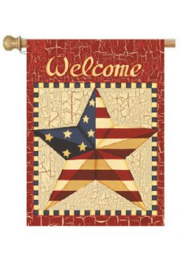 "Barn Star Americana Holiday Patriotic House or Garden Flag (Flag size: 28"" x 40"")"