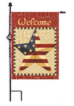 "Barn Star Americana Holiday Patriotic House or Garden Flag (Flag size: 12.5"" x 18"")"
