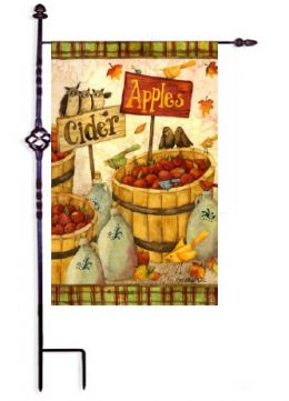 "Outdoor Decorative Garden or House Flag - Apples & Cider (Flag size: 12.5"" x 18"")"
