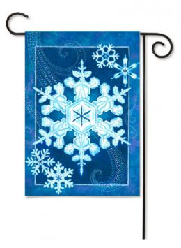 "Outdoor Decorative Garden or House Flag - Elegant Snowflake (Flag size: 12.5"" x 18"")"