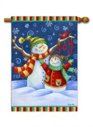"Outdoor Decorative Garden or House Flag - Snow Day (Flag size: 28"" x 40"")"