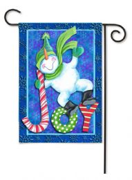 "Outdoor Decorative Garden or House Flag - Snowman Joy (Flag size: 12.5"" x 18"")"