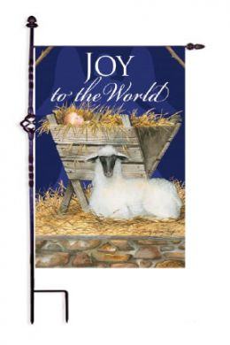"Joy to the World Christmas Holiday Garden or House Flag (Flag size: 12.5"" x 18"")"