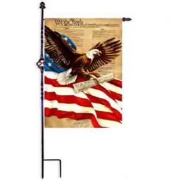 "Freedom Eagle American Pride Patriotic Garden & House Flag (Flag size: 12.5"" x 18"")"