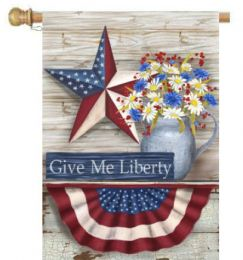 "Give Me Liberty Patriotic USA Pride Decorative Flags (Flag size: 28"" x 40"")"