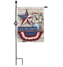 "Give Me Liberty Patriotic USA Pride Decorative Flags (Flag size: 12.5"" x 18"")"