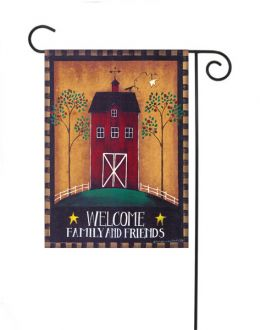 "Welcome Barn Fall Season House Flag or Welcome Doormat (Select Flag or Doormat: 12.5"" x 18"")"