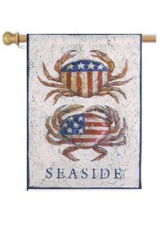 "Patriotic Crabs Summer Holiday Garden or House Flag (Flag size: 28"" x 40"")"