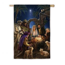 "Silk Reflections Holy Family Outdoor Garden or House Flag (Flag size: 28"" x 40"")"