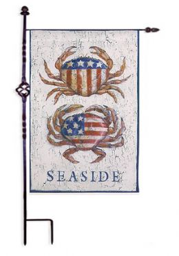 "Patriotic Crabs Summer Holiday Garden or House Flag (Flag size: 12.5"" x 18"")"