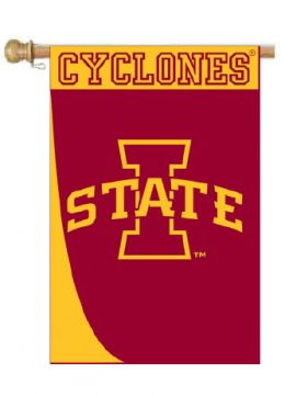 "Iowa State Swoosh College Logo Garden or House Flag (Flag size: 28"" x 40"")"