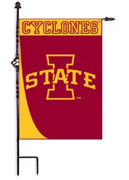 "Iowa State Swoosh College Logo Garden or House Flag (Flag size: 12.5"" x 18"")"