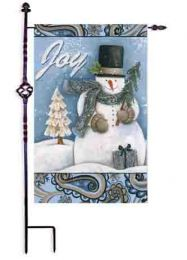 "Joy of Winter Suede Seasonal Outdoor Garden or House Flag (Flag size: 28"" x 40"")"