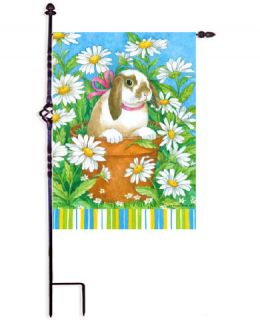 "Peekaboo Bunny Spring Holiday & Seasonal Decorative Flags (Flag size: 12.5"" x 18"")"