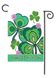 "Outdoor Decorative Garden or House Flag - Happy St. Pat's (Flag size: 12.5"" x 18"")"