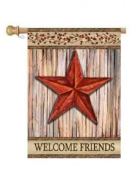 "Rustic Star Decorative Welcome Flag & Doormat Collection (Select Flag or Doormat: 28"" x 40"")"