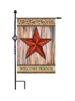 "Rustic Star Decorative Welcome Flag & Doormat Collection (Select Flag or Doormat: 12.5"" x 18"")"