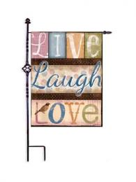 "Live Laugh Love Sayings Decorative Flag & Mat Collection (Select Flag or Doormat: 12.5"" x 18"")"