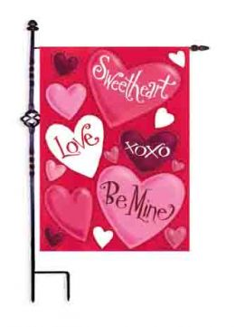 "Valentine Hearts Love Spring Holiday Garden or House Flag (Select Flag or Doormat: 12.5"" x 18"")"