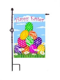 "Zebra Eggs Easter Spring Seasonal Garden or House Flag (Flag size: 12.5"" x 18"")"