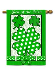 "Decorative Garden or House Flag - Luck of the Irish (Flag size: 28"" x 40"")"