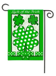 "Decorative Garden or House Flag - Luck of the Irish (Flag size: 12.5"" x 18"")"