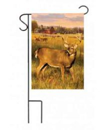 "Decorative House & Garden Flag or Doormat - Deer Barn (Select Flag or Doormat: 12.5"" x 18"")"