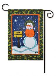 "Outdoor Decorative Garden or House Flag - Camo Snowman (Flag size: 12.5"" x 18"")"