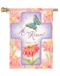 "He Is Risen Easter Spring Holiday Garden and House Flag (Flag size: 28"" x 40"")"