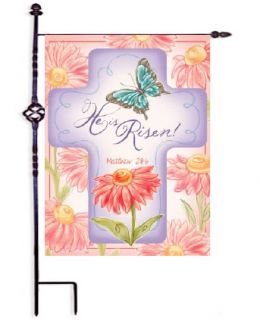 "He Is Risen Easter Spring Holiday Garden and House Flag (Flag size: 12.5"" x 18"")"