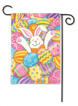 "Decorative House & garden Flag or Doormat - Bunny Eggs (Select Flag or Doormat: 12.5"" x 18"")"