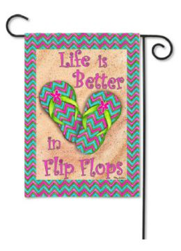 "Decorative Garden or House Flag - Better in Flip Flops (Flag size: 12.5"" x 18"")"