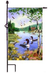 "Loon Lake Summer Seasonal Decorative Flag & Mat Collection (Select Flag or Doormat: 12.5"" x 18"")"