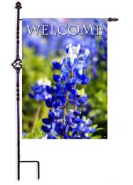 "Bluebonnet Welcome Spring Flowers Seasonal Garden & House Flag (Flag size: 12.5"" x 18"")"