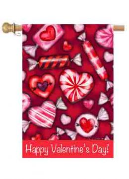 "Valentine's Candy Spring Holiday House or Garden Flag (Flag size: 28"" x 40"")"