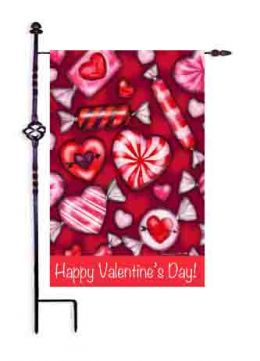"Valentine's Candy Spring Holiday House or Garden Flag (Flag size: 12.5"" x 18"")"