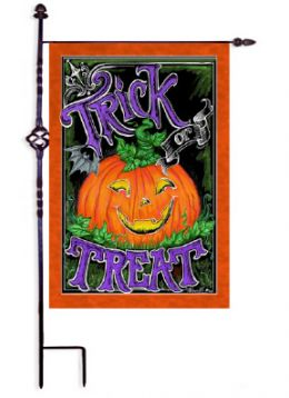 "Decorative Garden & House Flag or Doormat - Jack O' Lantern (Select Flag or Doormat: 12.5"" x 18"")"