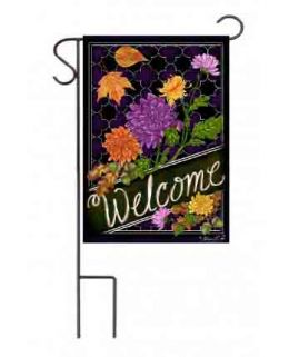 "Outdoor Decorative Garden or House Flag - Welcome Mums (Flag size: 12.5"" x 18"")"
