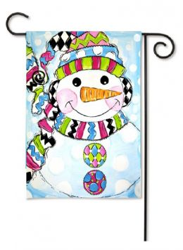 "Decorative House & Garden Flag or Doormat - Whimsy Snowman (Select Flag or Doormat: 12.5"" x 18"")"