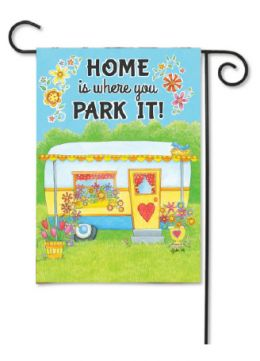 "Outdoor Decorative Garden Flag or House Flag - Camper Home (Flag size: 12.5"" x 18"")"