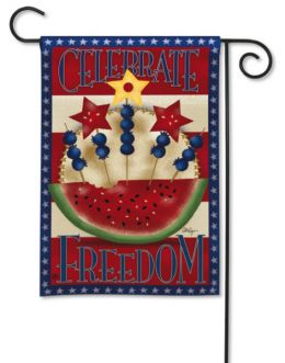 "American Picnic Fourth of July Flag or Doormat Collection (Select Flag or Doormat: 12.5"" x 18"")"