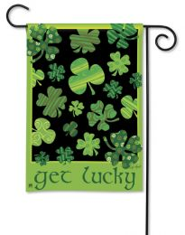 "Outdoor Decorative Garden or House Flag - Get Lucky (Flag size: 12.5"" x 18"")"