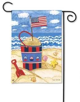 "Shining Sea Patriotic Garden or House Flag & Doormat (Select Flag or Doormat: 12.5"" x 18"")"