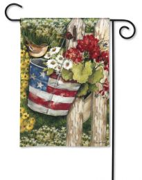 "Patriotic Pail Summer Holiday Flag & Doormat Collection (Select Flag or Doormat: 12.5"" x 18"")"