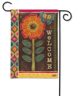 "Gypsy Garden Spring Decorative Welcome Flag & Mat Collection (Select Flag or Doormat: 12.5"" x 18"")"