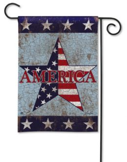 "America Patriotic Celebration Seasonal Garden and House Flag (Flag size: 12.5"" x 18"")"
